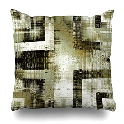 """895127aece2 Soopat Decorative Throw Pillow Cover Square Cushion 18""""X18"""" Art  Vintage Ornamental Beige Olive"""
