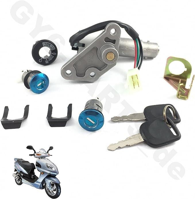 Key Switch Ignition Lock For Chinese GY6 50cc 150cc Taotao Jonway Roketa Scooter