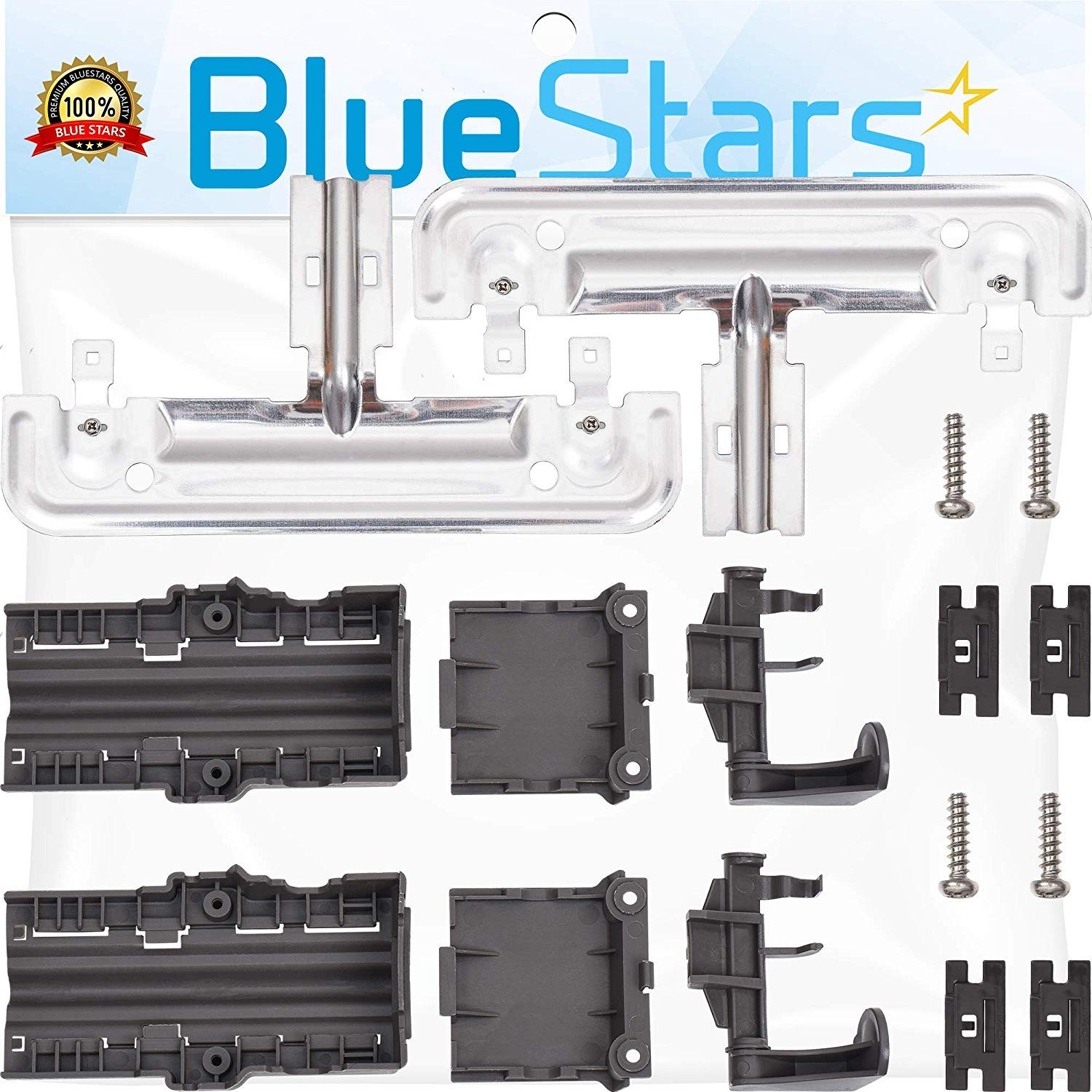 Ultra Durable W10712395 Dishwasher Rack Adjuster Kit Replacement Part by Blue Stars - Exact Fit For Whirlpool & Kenmore Dishwashers - Replaces W10250159 W10350375