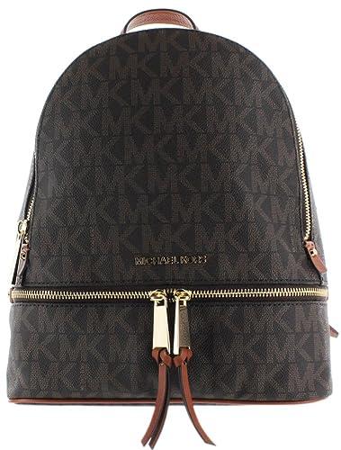 dd55951b96eb Amazon.com: MICHAEL Michael Kors Rhea Zip Medium Leather Backpack ...