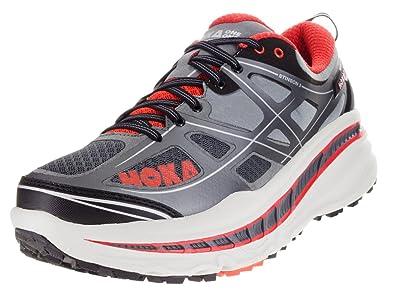 Hoka One One Mens Stinson 3 ATR Trail Running Shoes, Grey/Orange Flash -