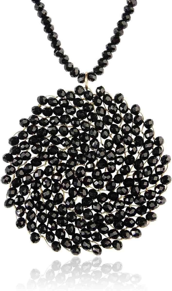 MMC Womens Necklaces Pendants Tassel Bar Pearls Silver Jewelry