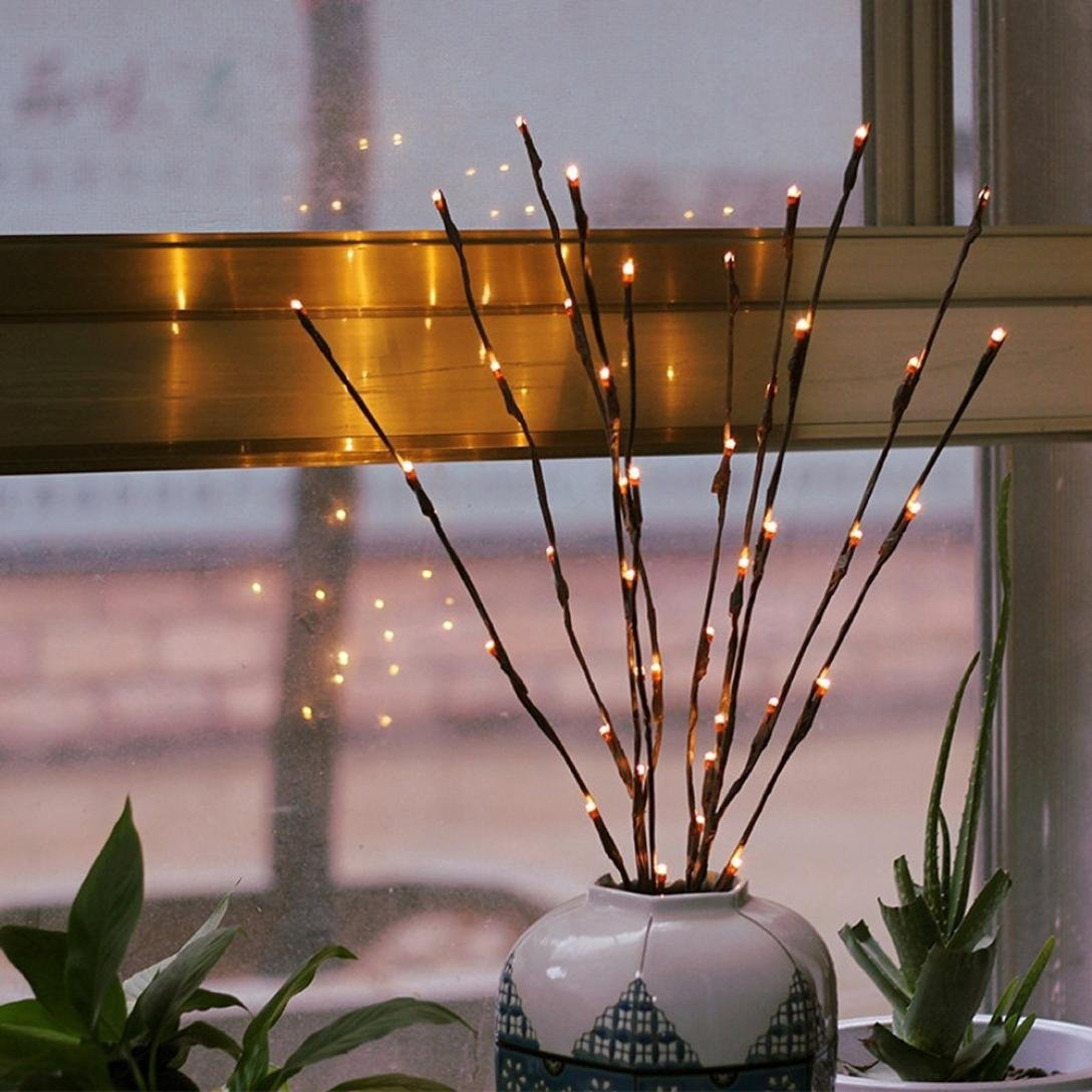 LiPing 20 LED Willow Branch Lamp Floral Lights For Christmas Party Xmas Wedding Party Garden Decor (A)