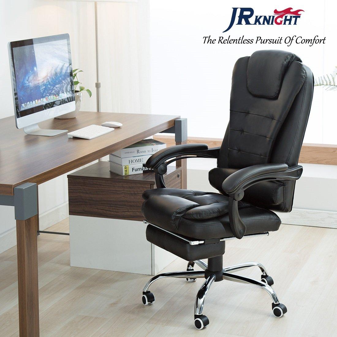 Silla gaming JR Knight LC-05BK ergonómica, giratoria, racing, para casa u oficina, con un diseño de máxima comodidad, en piel sintética y acolchada con ...