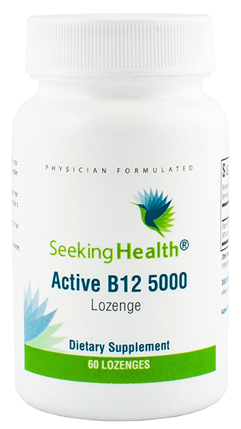 Seeking Health | Active B12 Vitamin Supplement | 5,000 mcg Lozenge | B Engergy Supplement