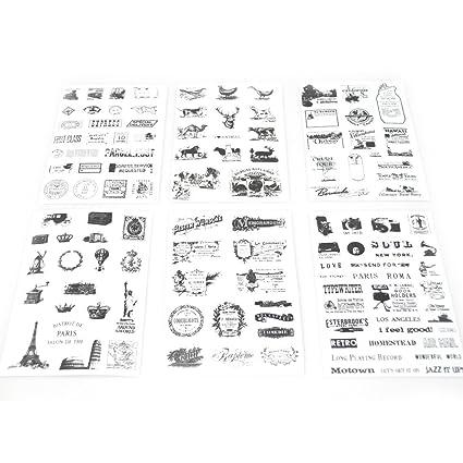 NOVAGO® 6 tablas de adhesivos pegatinas para decorar Smartphones, Tablets, PC, Macbook, agenda, taza o otros objetos