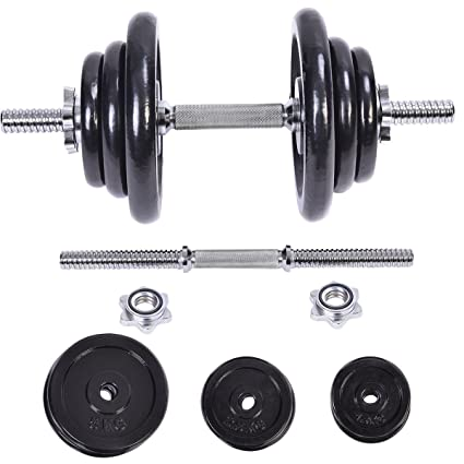 Nuevo 44 kg peso juego de mancuernas ajustable Cap gimnasio pesas cuerpo ejercicio hierro platos