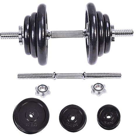 44 kg peso juego de mancuernas ajustable Cap gimnasio pesas cuerpo ejercicio hierro platos