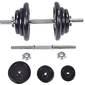 Nuevo 44 kg peso juego de mancuernas ajustable Cap gimnasio pesas ...