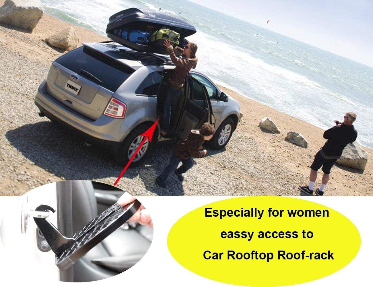 Slam a forma di auto porte di accesso a Car Rooftop Auto Automotive Doorsetp poggiapiedi pieghevole scala con funzione martello per SUV