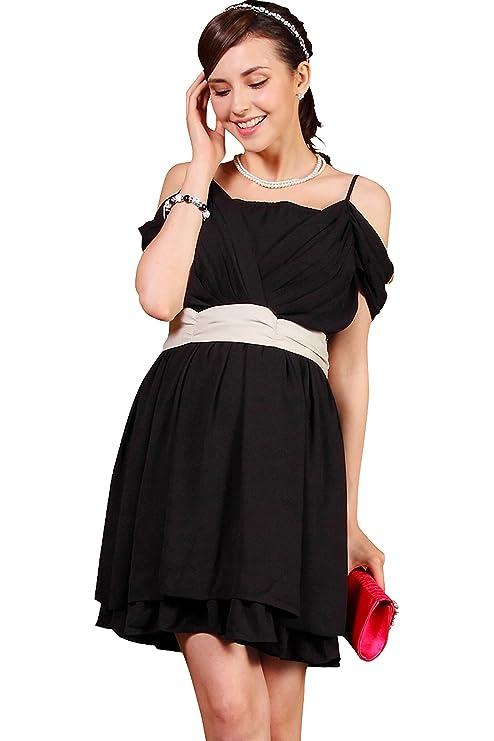 0f1efa959906a スウィートマミー (Sweet Mommy) 裾フリル 袖2WAY 配色 授乳 ワンピース  サマンサ