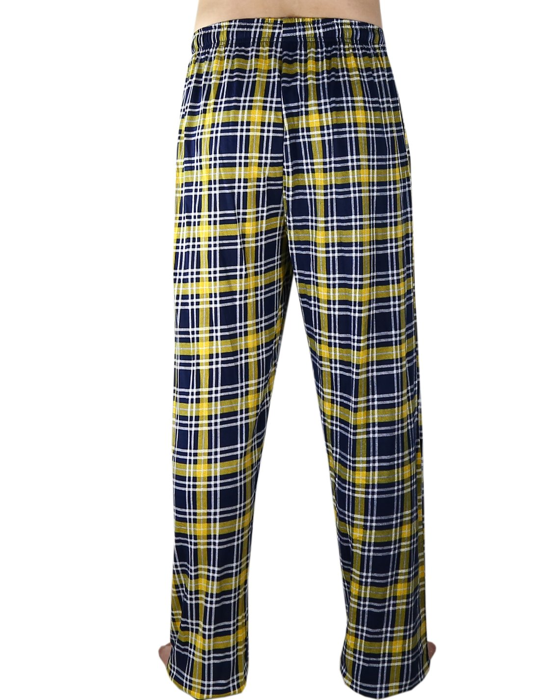 KANISA Pit Steelers Mens 100% Cotton Plaid Pajama/Sleepwear Pants - Multicolor Size M by KANISA (Image #2)