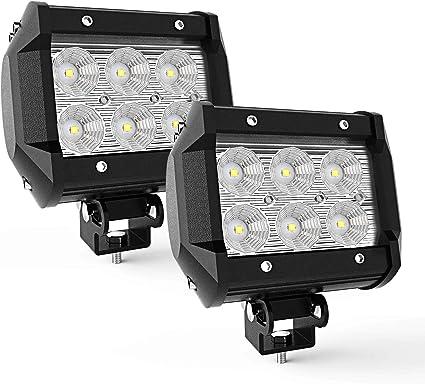 Zesion LED Light Bar 18W for Truck Jeep Polaris ATV UTV SUV Tractor Boat Led Work Lights Spotlights Off-road Driving Lights