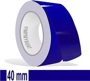 Siviwonder Zierstreifen Royalblau In 40 Mm Breite Und 10 M Länge Folie Aufkleber Für Auto Boot Jetski Modellbau Klebeband Dekorstreifen Königsblau Royal Blau Auto