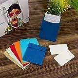 120 Pieces Non-Adhesive Library Card Pockets