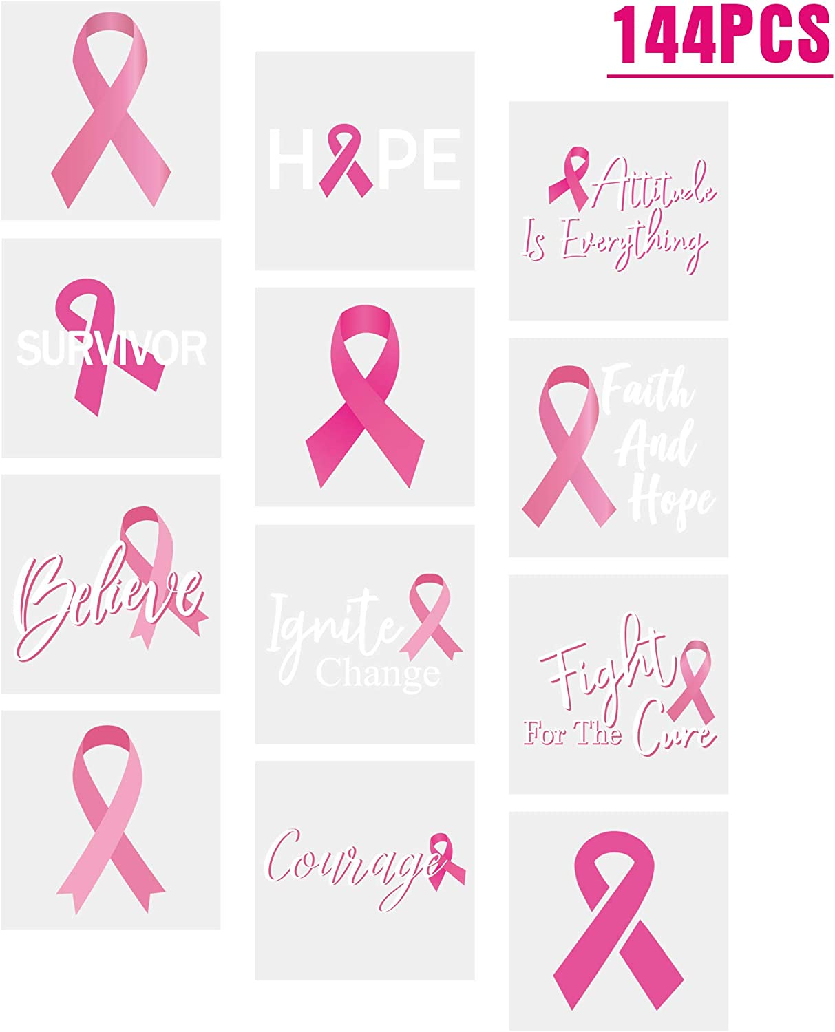 Amazon Com 3omething New Breast Cancer Awareness Pink Ribbon Tattoos Walk Football Team Run Fundraising Giveaways Favors 144ct Toys Games