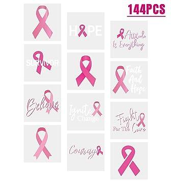 3omething New Breast Cancer Awareness Pink Ribbon Tattoos Walkfootball Teamrunfundraising Favors 144ct