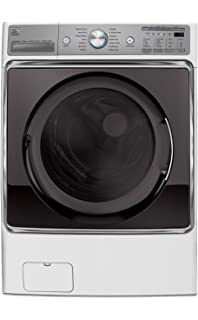 kenmore front load washer. kenmore elite 5.2 cu. ft. front load washer in white, includes delivery and d