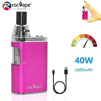 Cigarrillo electrónico 40w Vape Box Mod Rocvape Origo CVB All in One AIO Big Vapor Mini Box Mod 1600mAh Batería I Sin nicotina - Rosa: Amazon.es: Salud y ...