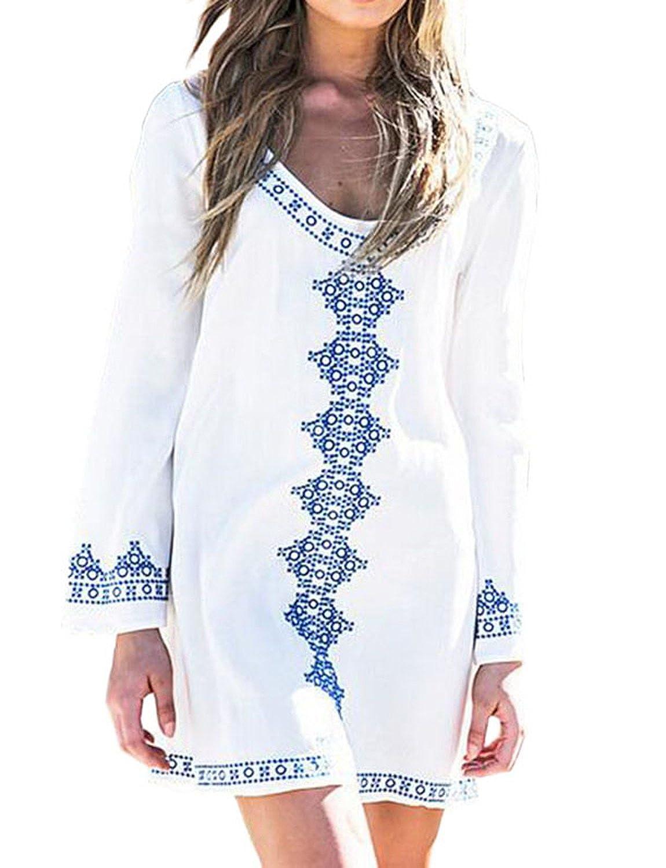 Laryana Women's Swimwear Cotton Crochet Tunic Cover up / Beach Dress