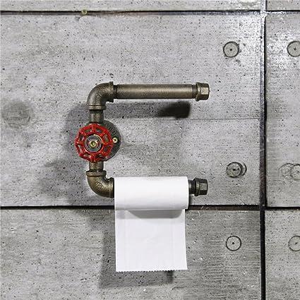 Industrial Retro agua tuberías, toalla de papel estante, personalizado decorativo estantes