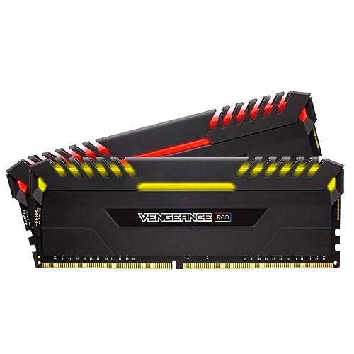 Corsair Vengeance RGB Kit de memoria Entusiasta de 32 GB 2 x 16 GB DDR4 2666 MHz C16 XMP 2 0 negro