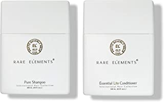 product image for Rare Elements Pure Shampoo & Essential Lite Conditioner Set with Gute Carrying Bag (Three Piece Bundle) 8 oz per unit