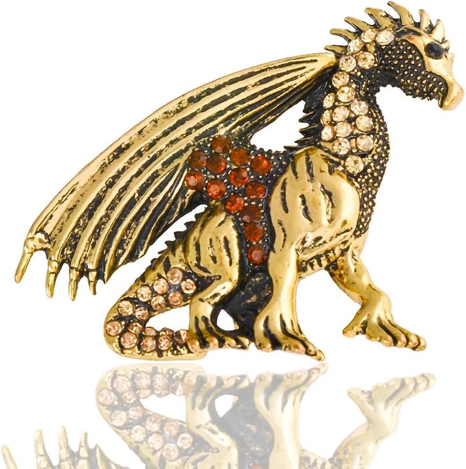 Europa y América del diamante de los dinosaurios en tres dimensiones de la personalidad-aleación broche de joyería collar de pecho capítulo dragón volador ramillete broche de regalo del día