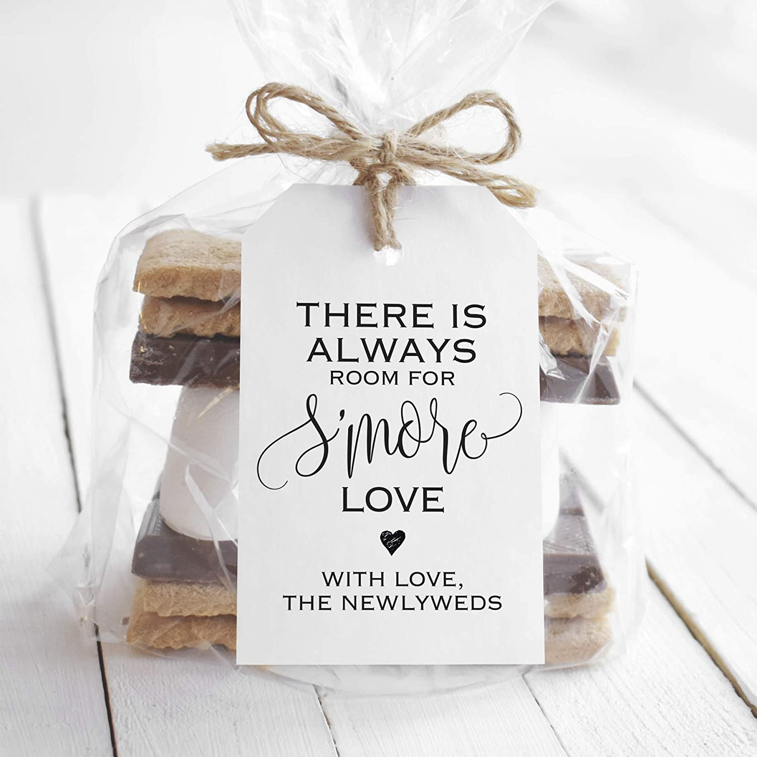 Bliss Collections Thank You for Celebrating with Us Gift and Favor Tags, Pack of 50 S'More Love for Weddings, Bridal Showers, Birthdays, Baby Showers, Celebrations - Makes Cute Favors