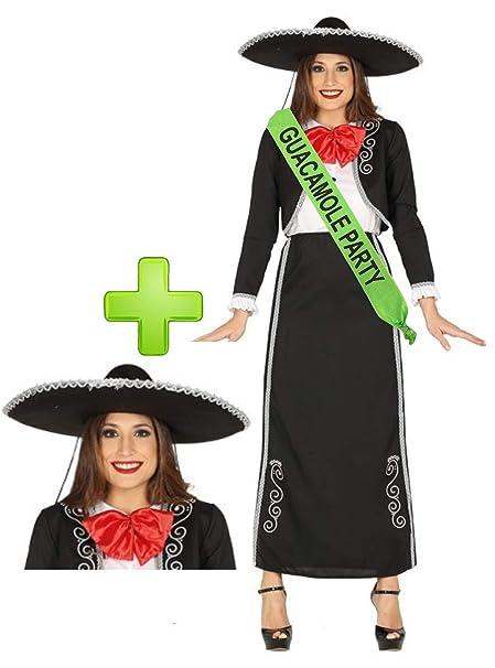 Disfraz de Mariachi chica con banda y gorro - Despedidas de ...