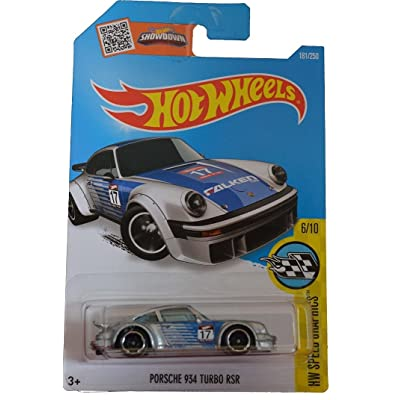 Hot Wheels 2016 HW Speed Graphics Porsche 934 RSR 181/250, Silver: Toys & Games