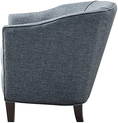 Madison Park Barrel Arm Chair Fremont/Slate Blue FPF18-0494