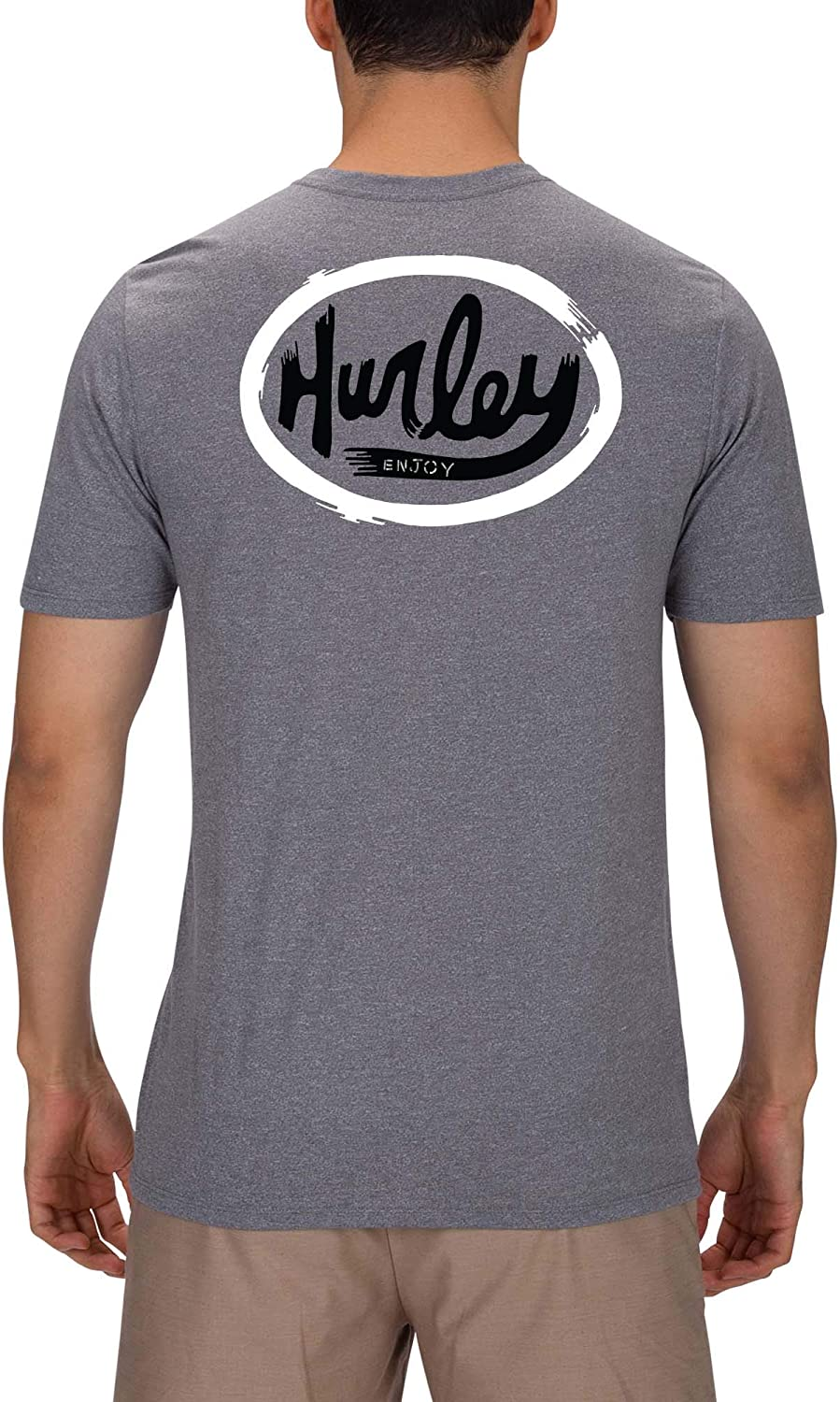 Hurley Mens Short Sleeve Ovals Tri-Blend Tshirt