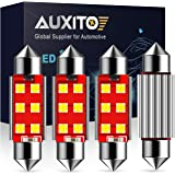 AUXITO 578 LED Bulb 41mm 42mm 212-2 211-2 578 Festoon LED Bulbs CANBUS Error Free 6-SMD 3030 Chipsets Xenon White…