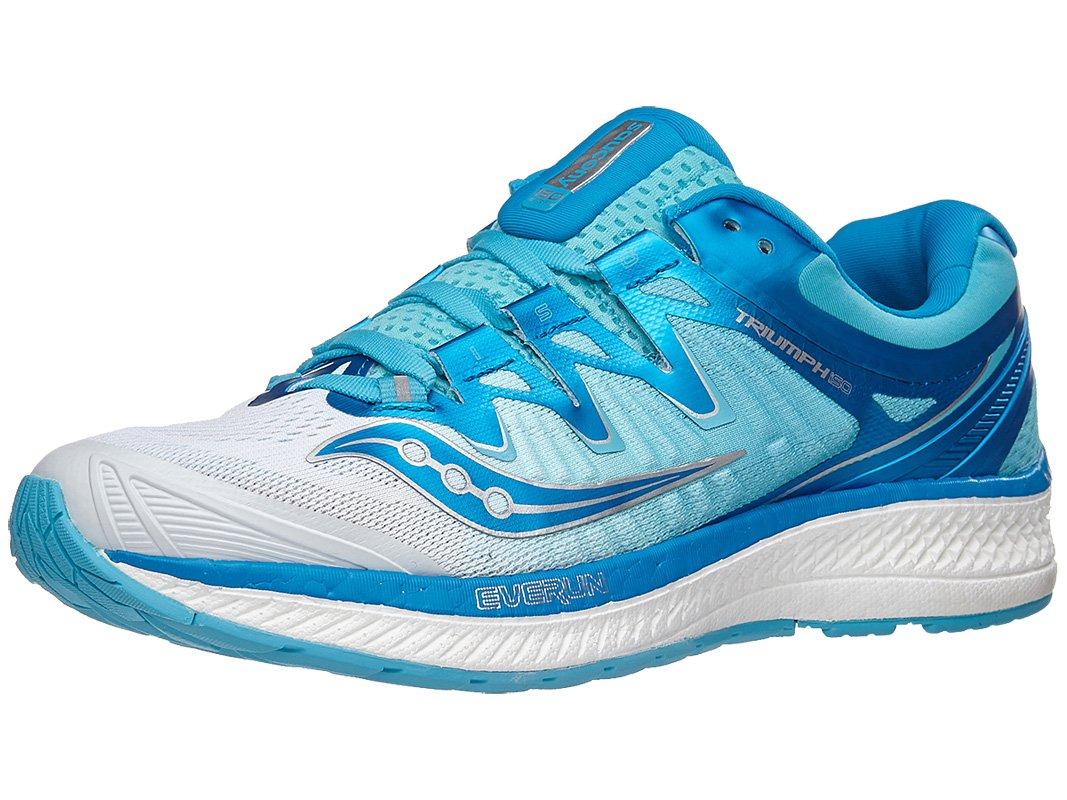 Saucony Women's Shoe Triumph Iso 4 Running Shoe Women's B078PN5LBB 11.5 B(M) US|White/Blue de42a0