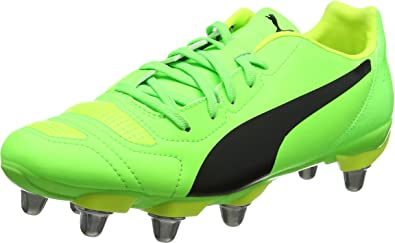 Puma Evopower 4.2 H8, Chaussures de Rugby Homme, Noir Black White-Green Gecko 07, 46 EU