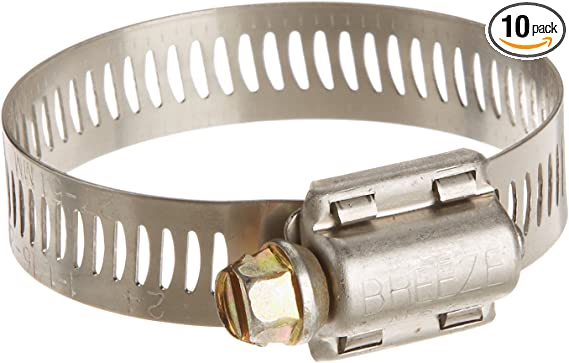Pack of 20 Effective Size: 1-1//16-1-1//2 3//8 Band HPS EMSC-25-40x20 Stainless Steel Embossed Hose Clamps SAE 16