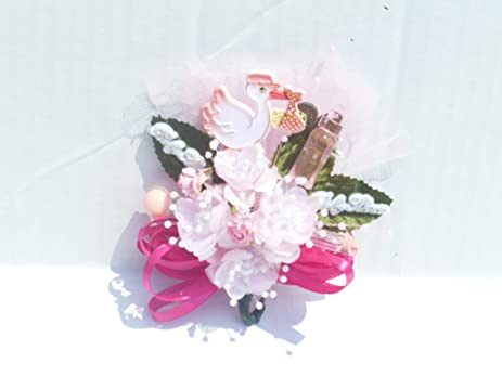 Baby Shower Corsage For Mom ~ Amazon baby shower corsage for mom girl pink and hot pink