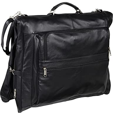 AmeriLeather Leather Three-suit Garment Bag (Black) e7090f53fc75c