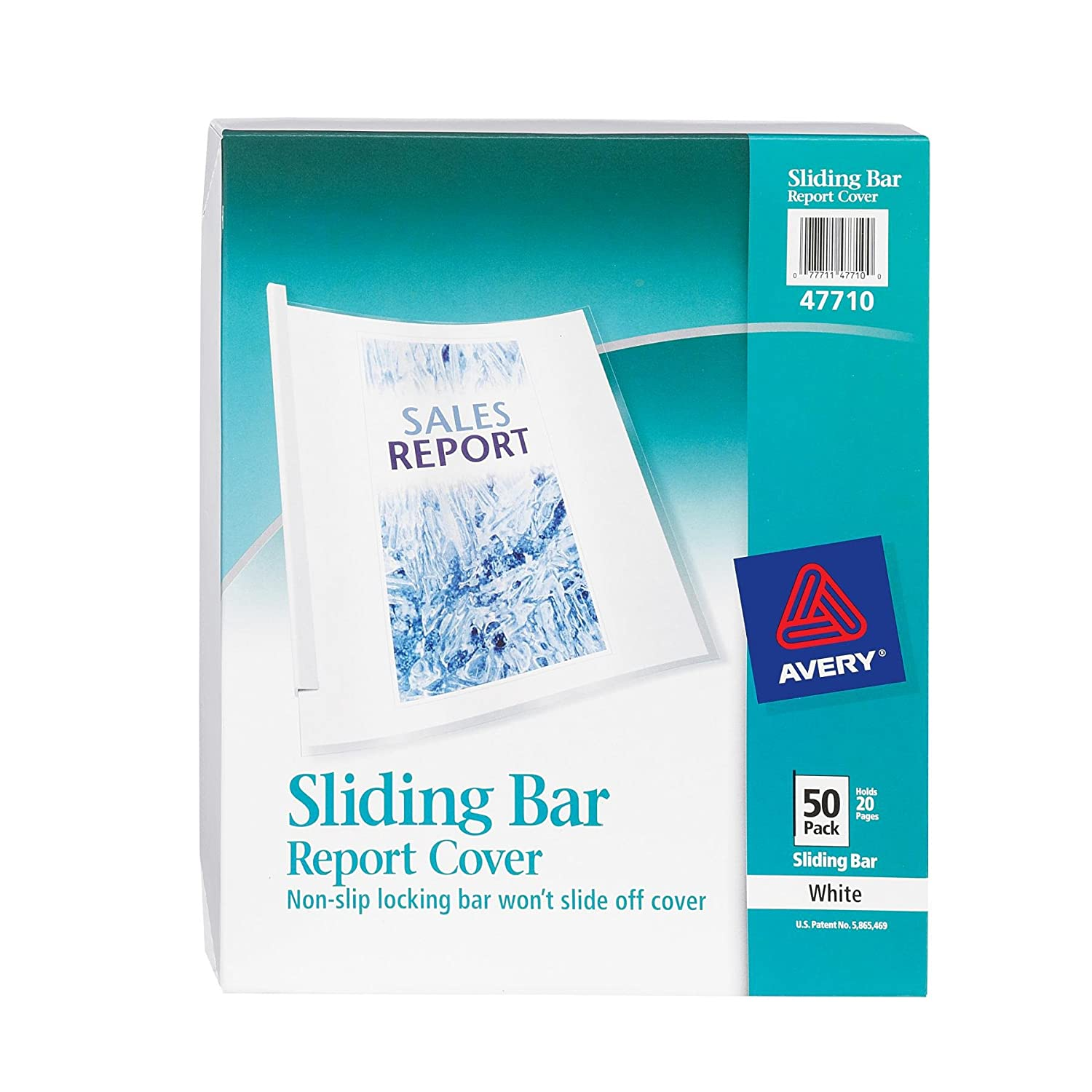 Amazon.com : Avery Sliding Bar Clear Report Covers, Pack Of 50 (47710) :  Business Report Covers : Office Products  Book Report Cover Sheet