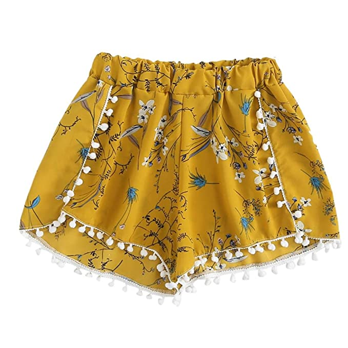 10f805e52c0baf LUCKDE Damenhosen Stretch Sommer, Kurze Hosen Strandhose Hot Pants Sport  Shorts Schlafanzughose Pyjamahose Relaxshorts Sommerhosen