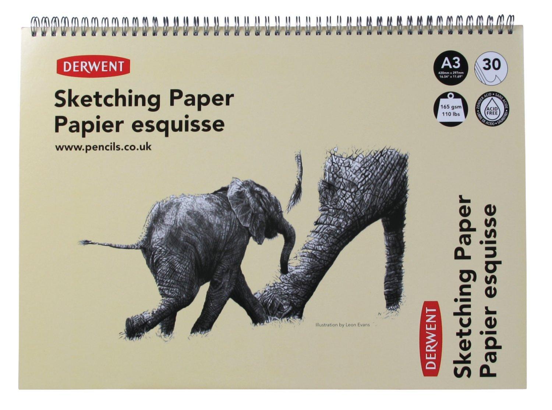 Derwent A3 Landscape Sketch Pad,30 Sheets,Multicolor 2300141