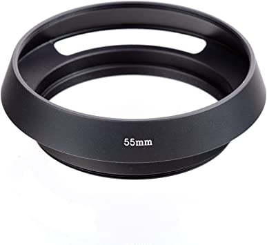 Lens Hood Shade for Sport Cameras case Metal Vented Lens Hood for All Leica Lens with 55mm Filter Thread ,Metal Lens Shade for All Leica 55mm Filter Thread Lenses for Sport Cameras Black