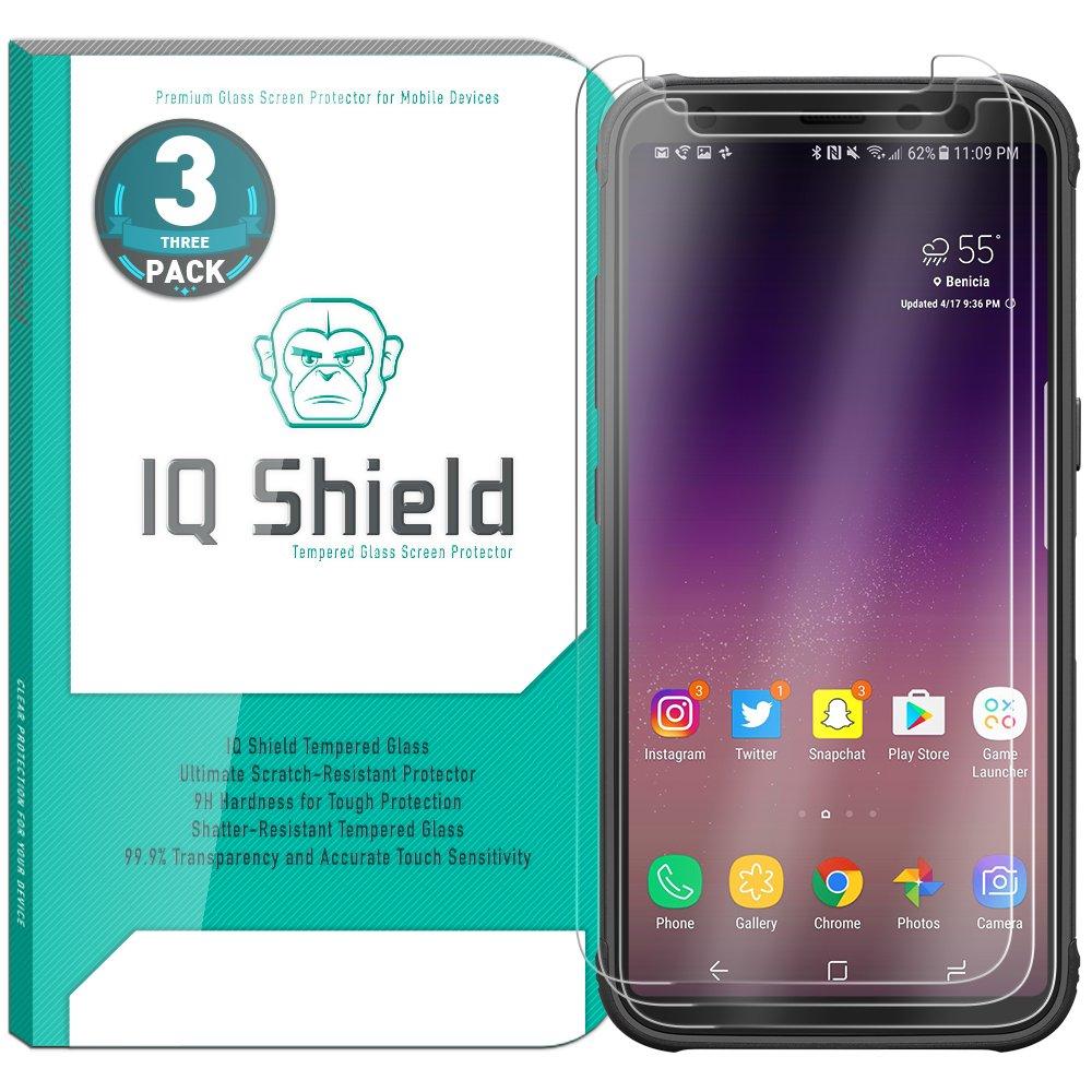 Vidrio Templado IQSHIELD p/ Samsung S8 Active Pack x 3