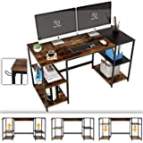 Nost & Host Computer Desk with Adjustable Storage Shelves & Headphone Holder, Industrial Large Spacious Home Office PC…
