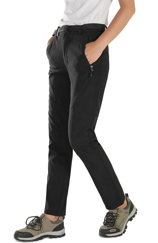 HAINES Pantalon Softshell Femme de Randonn/ée Imperm/éable Respirant Pantalon /ét/é Outdoor Trekking Pantalon