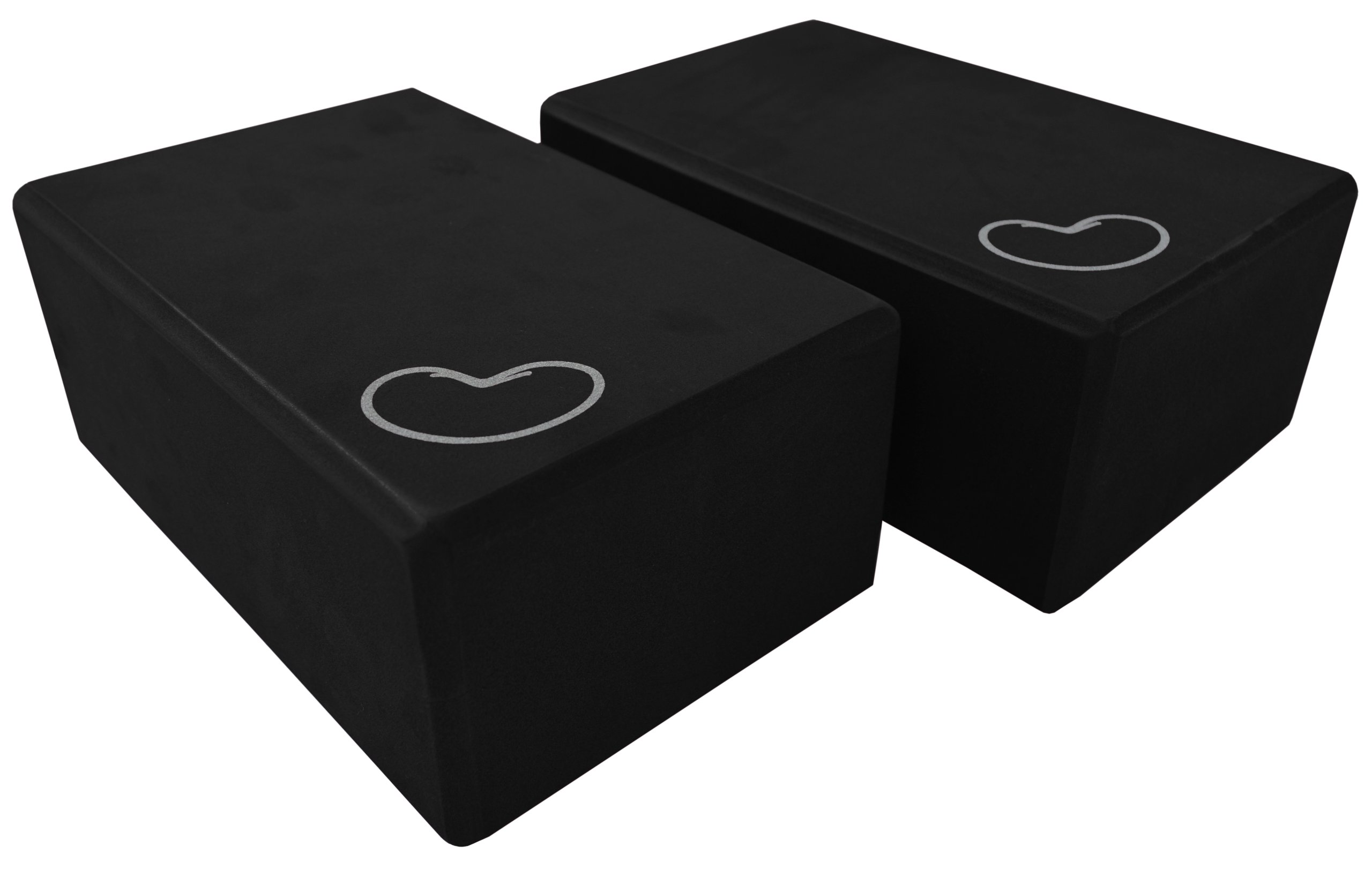 Bean Products Black - 2 Pack - EVA Yoga Block - 3 x 6 x 9 inches