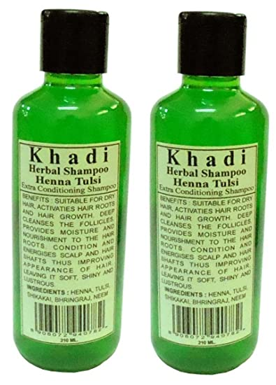 Amazon Com Khadi Herbal Henna Tulsi Shampoo Twin 420ml Beauty