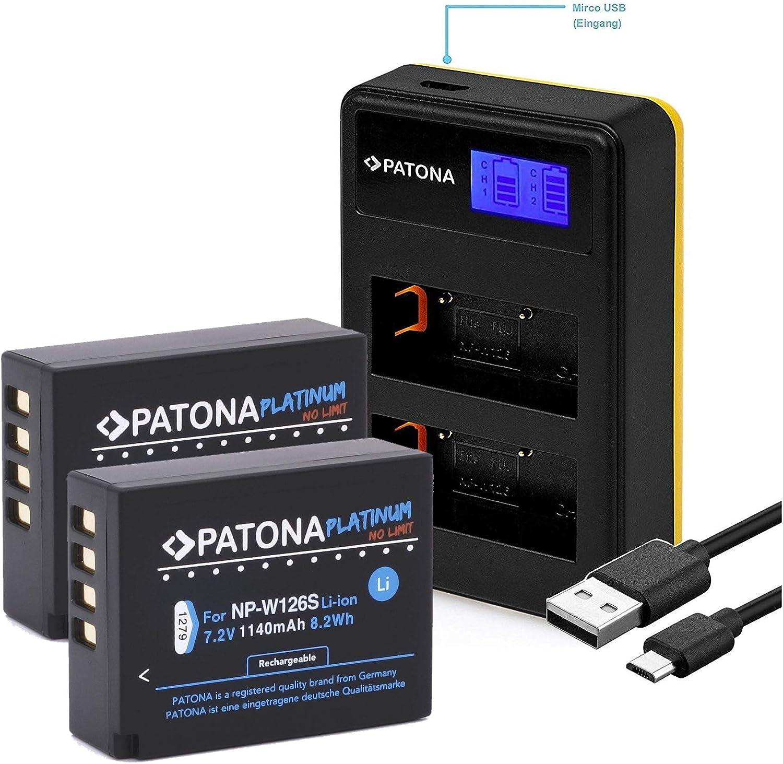 x-a10 dual-cargador para Fuji-película x-a1 x-a2 np-w126-s Patona BATERIA x-a3