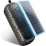 ワイヤレス Bluetooth スピーカー vdison ポータブル ブルートゥース4.0 スピーカー 30 時間連続再生【内蔵太陽 電池 /デュアルドライバー / IP67防沫規格 / ショックプルーフ】(ブラック)
